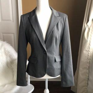 Beautiful Express single-button dark gray blazer